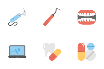 Dental Flat Icons  Icon Pack
