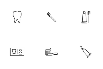 Dental Line Icon Pack