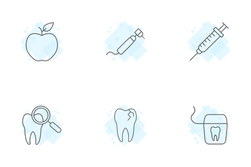 Dental & Stomatology Thin Line Icons Icon Pack