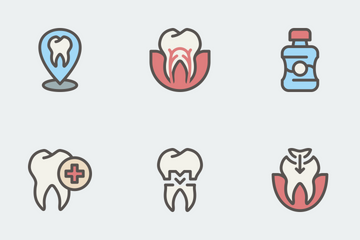 Dentist Color Set Icon Pack