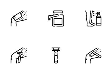 Depilation Procedure Icon Pack