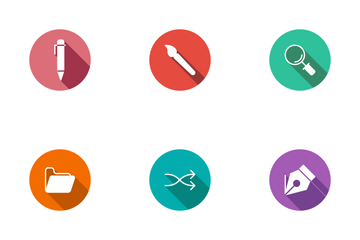 Design Circle Shadow  Icon Pack