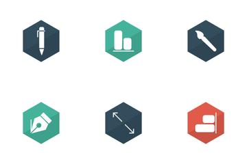 Design Flat Glyphs  Icon Pack