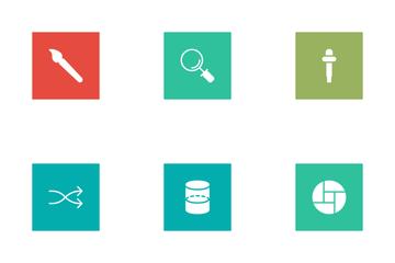 Design Flat Square  Icon Pack