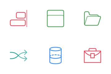 Design Line Color Icon Pack
