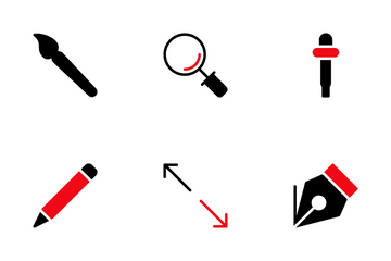 Design Red And Black Icon Pack