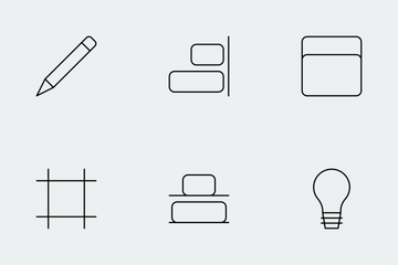 Design Thin Line Icons Icon Pack