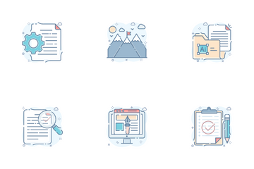 Design Tools And Creative Process Icon Pack