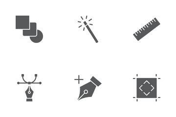 Design Tools Glyph Icons Icon Pack