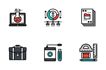 Designer Gadget Fill Outline Icon Pack