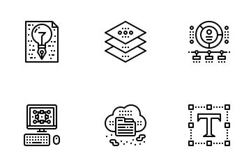 Designer Gadget Outline Icon Pack