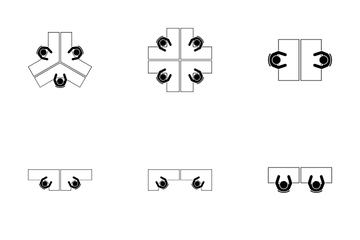 Desk Arrangement Icon Pack
