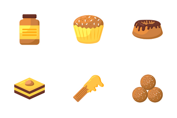 Desserts And Chocolates Icon Pack