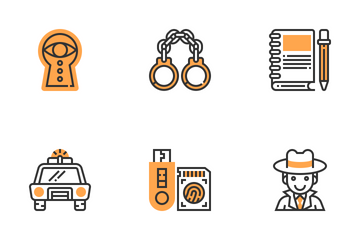 Detective Elements  Icon Pack
