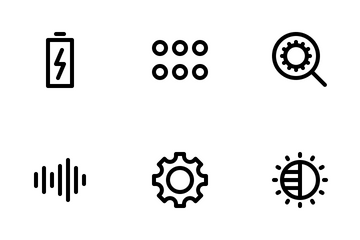 Device Settings (Outline) Icon Pack