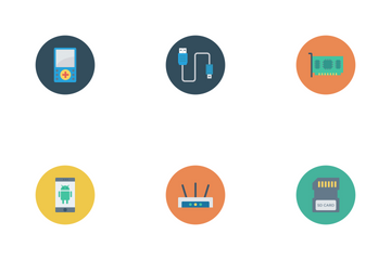 Devices Flat Circle  Icon Pack