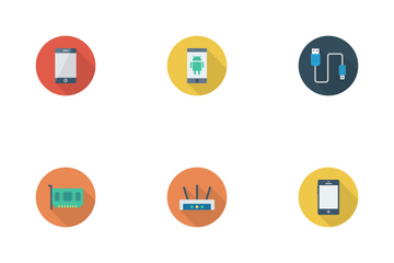 Devices Flat Circle Vol 1 Icon Pack