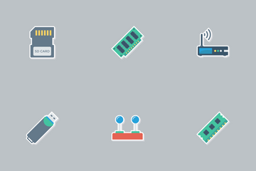Devices Flat Paper Vol 1 Icon Pack