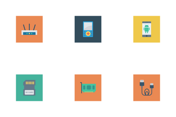 Devices Flat Square  Icon Pack