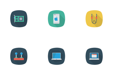 Devices Flat Square Rounded Shadow Vol 1 Icon Pack