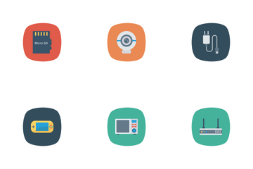 Devices Flat Square Rounded Vol 1 Icon Pack