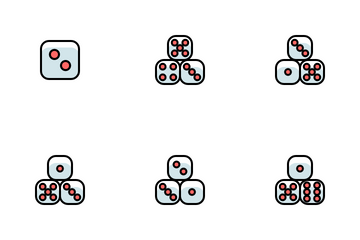 Dice Gamble Play Casino Icon Pack