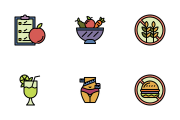Diet And Nutrition Icon Pack