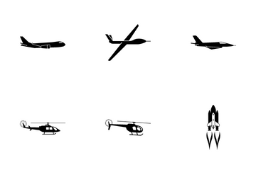 Different Aircrafts Icon Pack