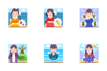 Different Types Of Fear Icon Pack