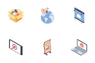 Digital Advertising Media Channels Icon Pack