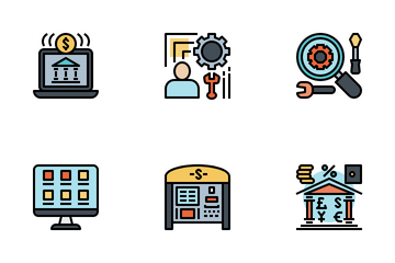 Digital Banking And Finance Icon Pack