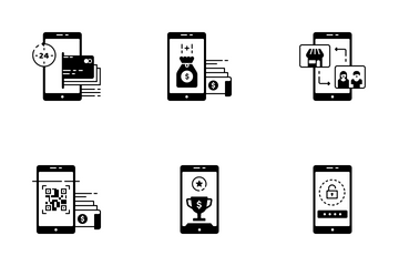 Digital Banking Solid - Fast Transfer Icon Pack