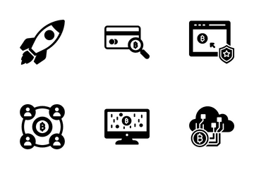 Digital Currency Bitcoin Icon Pack