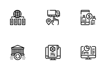Digital Economy And E-business Icon Pack