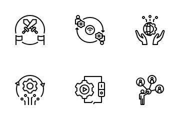 Digital Globalization Icon Pack