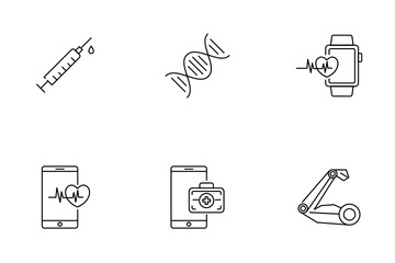 Digital Healthcare Technology And Medicine Icon Pack