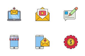 Digital Internet Marketing Icon Pack