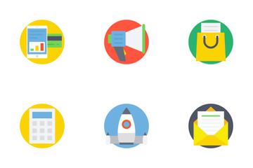 Digital Marketing Flat Icons 1 Icon Pack