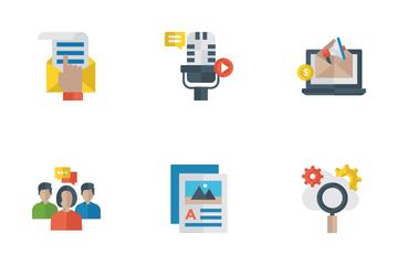 Digital Marketing Flat Icons Icon Pack
