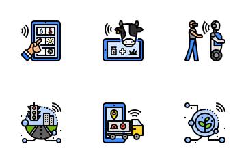 Digital Transformation. Icon Pack