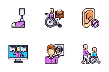 Disabled People Icon Pack