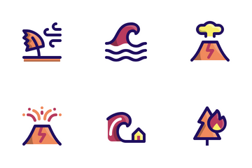 Disaster (Filled Line) Icon Pack
