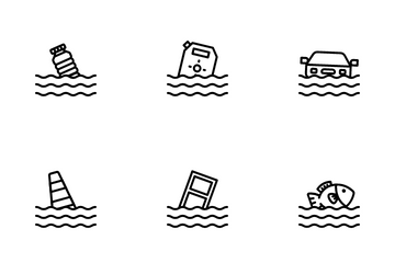Disaster Flood Icon Pack