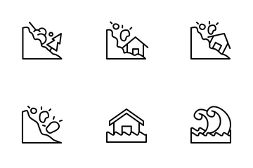 Disaster (outline) Icon Pack