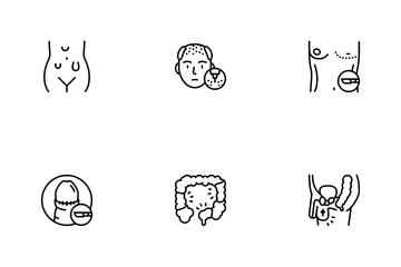 Disease Human Organ Icon Pack