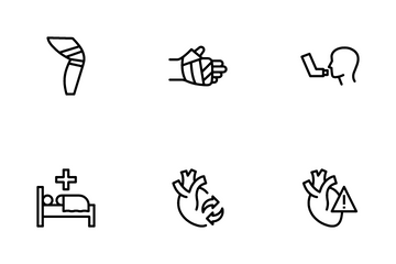 Diseases And Injury Icon Pack
