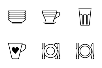 Dishes (glyph) Icon Pack