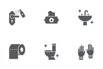 Disinfection Icon Pack