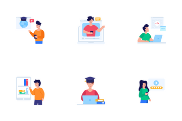 Distance Education Icon Pack