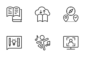 Distance Learning 3 Icon Pack